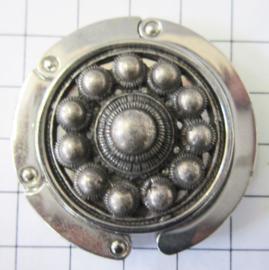 verzilverde Zeeuwse knop tassenhanger ZKG421