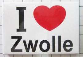 10 stuks koelkastmagneet I LOVE  Zwolle N_OV3.002