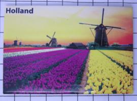 10 stuks koelkastmagneet Holland  Molens tulpenveld MAC:20.286