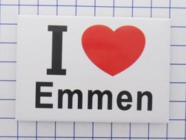 N DR1.001 I love Emmen koelkastmagneet 10 stuks