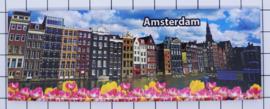 10 stuks koelkastmagneet Amsterdam  grachtenpanen met tulpen 22.010