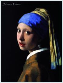 pak 25 posters (35.5 cm  x  27.2 cm) POS211 Meisje met de parel Johannes Vermeer