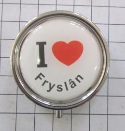 PIL_FR1.001 pillendoosje met spiegel ik hou van Fryslan