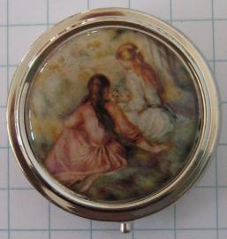 PIL 132 pillendoosje twee meisjes rugzijde Renoir