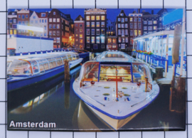 10 stuks koelkastmagneet Amsterdam  rondvaartboot MAC:19.033