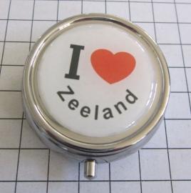 PIL_ZE1.001 pillendoosje met spiegel ik hou van Zeeland