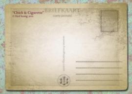"""""""Chick & Cigarette"""" Postcard"""