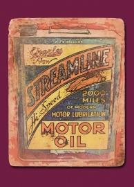 """Motor Oil"" Postcard"