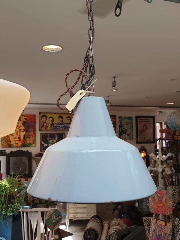 Vintage lamp grijs