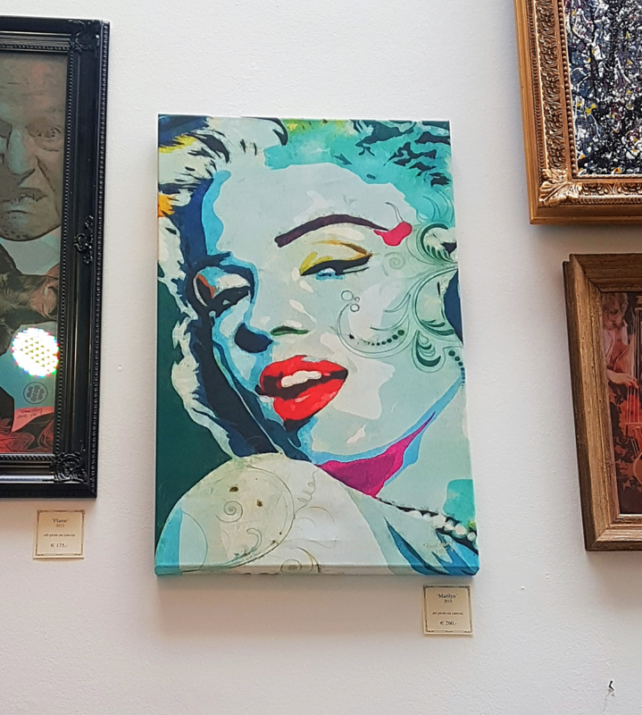Marilyn op canvas