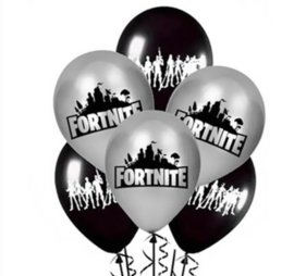Ballonnen ballon fortnite 10 stuks!! 5x zwart + 5x grijs