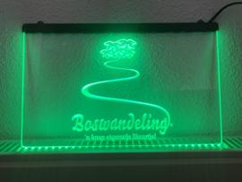 Boswandeling neon bord lamp LED 3D cafe verlichting reclame lichtbak