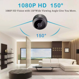 Wifi mini spy camera magneet IP magnetisch full HD *zwart*
