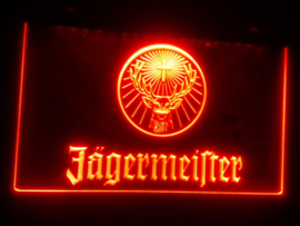 Jagermeister neon bord lamp LED 3D cafe verlichting reclame lichtbak *ORANJE*