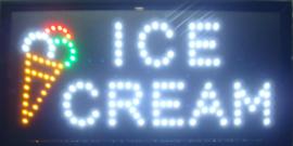 Ice cream ijs LED bord lamp verlichting lichtbak reclamebord #C