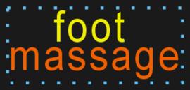 Foot voet Massage LED bord verlichting lichtbak reclamebord #D