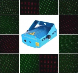 Mini laser show rood groen flash projector led disco *BLAUW*