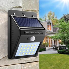 Solar buiten outdoor lamp tuin verlichting 20 led *WARM WIT*