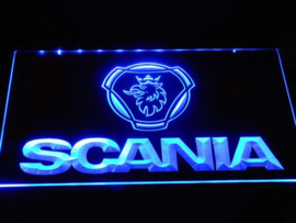 Scania neon bord lamp LED 3D cafe verlichting reclame lichtbak