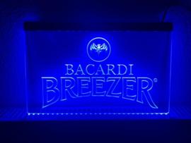 Bacardi breezer neon bord lamp LED cafe verlichting reclame lichtbak *blauw*