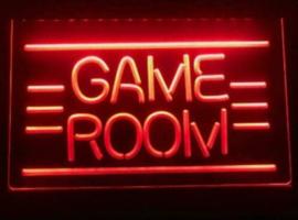 Game room neon bord lamp LED verlichting reclame lichtbak *rood*