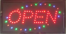 OPEN LED bord lamp verlichting lichtbak reclamebord #C14