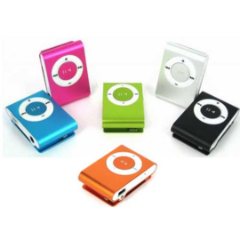 MP3 speler mini shuffle formaat micro sd sport + clip *8 kleuren*