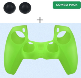 Silicone hoes skin case cover voor PS5 playstation 5 controller *groen*