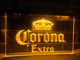Corona neon bord lamp LED verlichting reclame lichtbak XL *40x30cm* geel