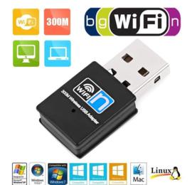 WIFI mini usb dongle adapter ontvanger 300mbps netwerk + CD