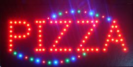 PIZZA LED bord lamp verlichting lichtbak reclamebord #B6