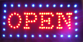 OPEN LED bord lamp verlichting lichtbak reclamebord #C10