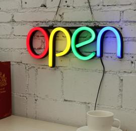 Open neon bord verlichting lamp licht kunststof buis 3D