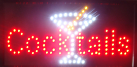 Cocktails cocktail LED bord lamp verlichting lichtbak reclamebord #C11