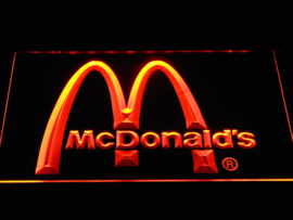 Mac Donalds neon bord lamp LED 3D cafe verlichting reclame lichtbak