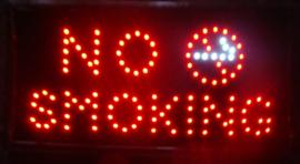 Niet roken non smoking lamp LED verlichting bord lichtbak