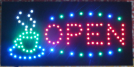 Coffee koffie lamp LED verlichting reclame bord lichtbak #C