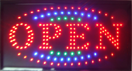 OPEN LED bord lamp verlichting lichtbak reclamebord #C11