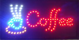 Coffee koffie lamp LED verlichting reclame bord lichtbak #B