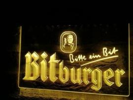 Bitburger neon bord lamp LED 3D cafe verlichting reclame lichtbak