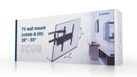 Tv muurbeugel muur beugel draai- en kantelbaar 26-55 inch <50KG