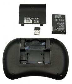 Mini wireless draadloos toetsenbord + muis Rii I8 keyboard *ZWART*