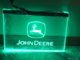 John Deere neon bord lamp LED verlichting reclame lichtbak XL *40x30cm*