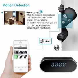 Wifi spycam klok wekker camera IR nachtzicht FullHD + APP *ovaal*