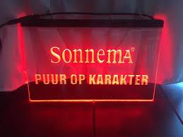Sonnema neon bord lamp LED 3D verlichting reclame lichtbak bier #1