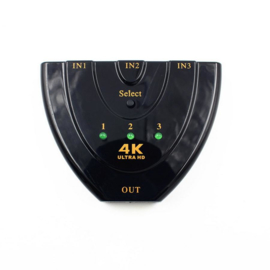 4K HDMI splitter verdeler 3 poorten 3x ingang switch hub
