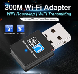 WIFI mini usb dongle adapter ontvanger 300mbps netwerk + CD