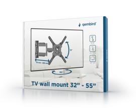 Tv muurbeugel muur beugel draai- en kantelbaar 32 - 55 inch <30KG