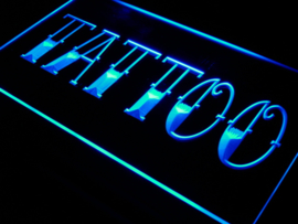 TATTOO neon bord lamp LED 3D cafe verlichting reclame lichtbak