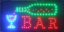 Bar drank cafe LED bord lamp verlichting lichtbak reclamebord #C3